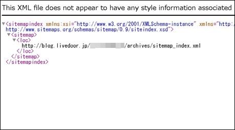 ライブドアブログXMLサイトマップ表示
